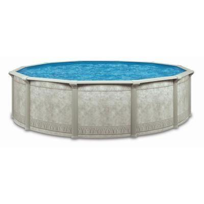 Aquarian Cornelius Dynasty Khaki Venetian 15 Ft X 52 In Round Above Ground Swimming Pool Mlrc00155s The Home Depot Above Ground Swimming Pools Round Above Ground Pool In Ground Pools
