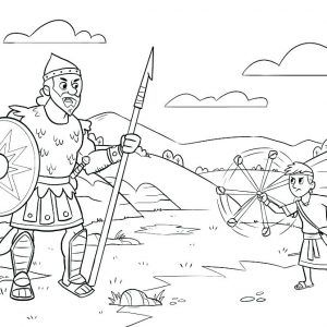 Coloring Pages For David And Goliath David And Goliath Coloring