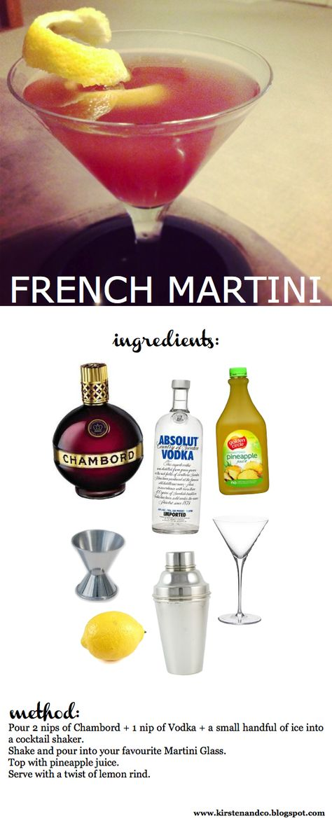 RECIPE: french martini | Kirsten and co. Just had these on New Years Eve! Fabulous!