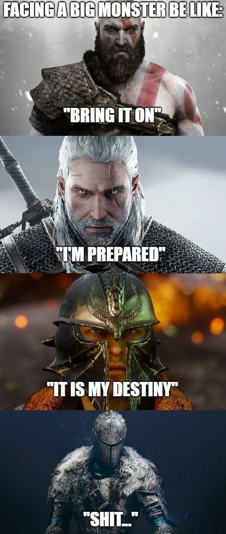 One Of These Is Not Like The Others Super Funny Memes Funny Games Dark Souls Funny