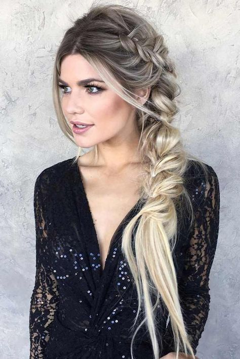 9 Artistic Tricks: Braided Hairstyles For Work women hairstyles with bangs Hairstyles Color brunette hairstyles color. Side Braid Hairstyles, Baddie Hairstyles, Prom Hairstyles, Black Hairstyles, Hairstyles Pictures, Brunette Hairstyles, Wedding Hairstyles Side, Fishtail Braid Hairstyles, Braid Hairstyles