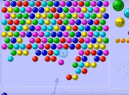 Bubble Shooter Almost Game Over