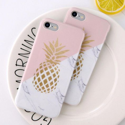 Cell Phone Cases - Coque iPhone 6s Plus / 6 Plus Ananas Doré Marbre - Welcome to the Cell Phone Cases Store, where you'll find great prices on a wide range of different cases for your cell phone (IPhone - Samsung) #LeatherCellPhoneCases