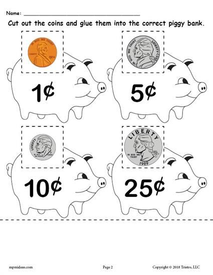 Awesome Identifying Coins Pennies Nickels Dimes Quarters Worksheets Centers And Money Activities That Are All D Money Math Money Worksheets Teaching Money