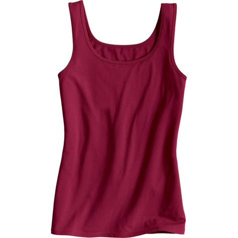 df8cc862 This No-Yank Tank Top's combo of super-soft organic cotton and spandex  stays put when you walk, reach or wiggle. It's comfort without the creep!