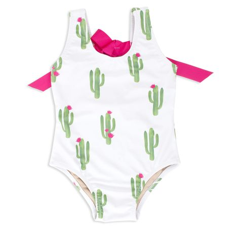f719632dd Cactus Scoop Swimsuit with Bow - Spearmint Ventures, LLC