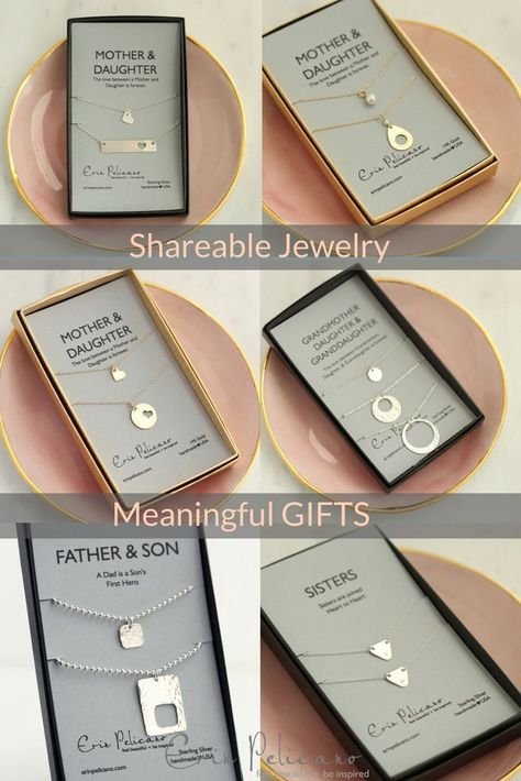 Mother daughter necklace sets, Mom daughter bar necklaces make sentimental mother of the bride jewelry gifts to say thank you