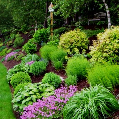 Landscaping Want To Do This On Our Side Hill With Some Big Rocks Steep Hill Landscaping Garden B Backyard Hill Landscaping Sloped Garden Hillside Landscaping