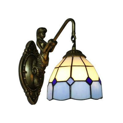 Details About Tiffany Style Wall Sconces Lighting Dome Shape Stained Glass Decor Living Lights Wall Sconce Lighting Stained Glass Mirror Sconce Lighting