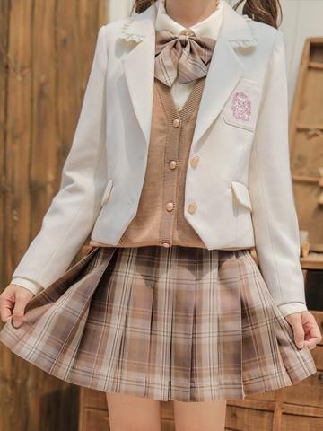 Edgy Outfits, Preppy Outfits, Korean Outfits, Cool Outfits, Fashion Outfits, Japanese Outfits, Japanese Fashion, Korean Fashion, Japanese School Uniform