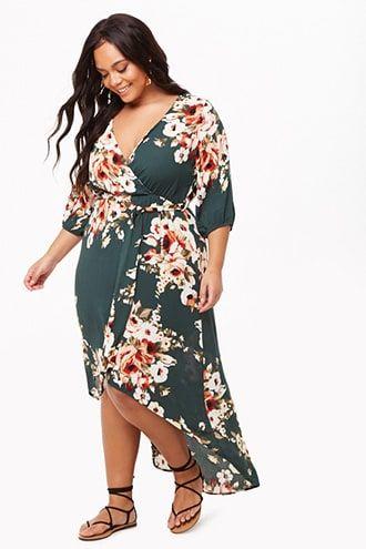 8336492a3775 Plus Size Cold Shoulder Floral Overlap Dress in 2019 | cruise | Boho dress  plus size, Plus size long dresses, Dresses