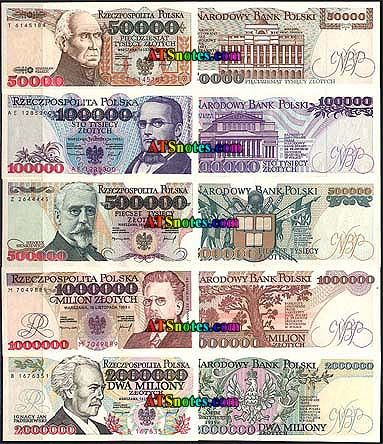Poland Banknotes Poland Paper Money Catalog And Polish Currency History Bank Notes Money Worksheets Paper Money