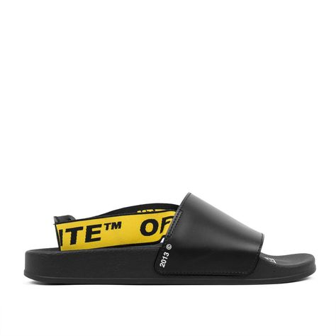 Industrial Logo Strap Sandals In Black