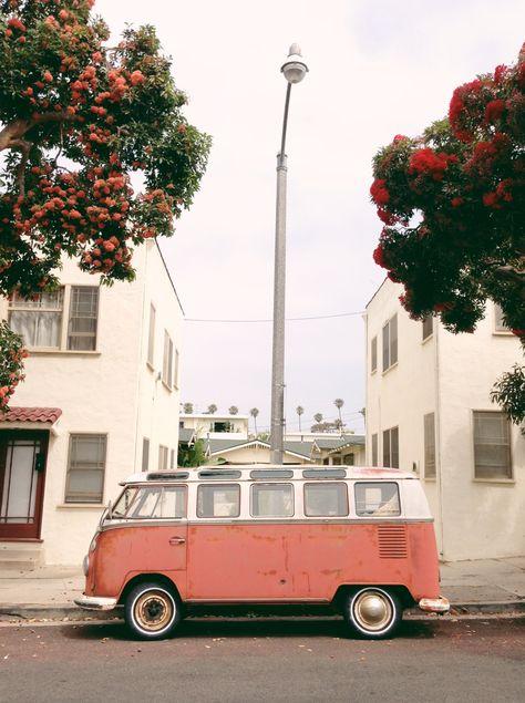 Furgoneta VW rosa