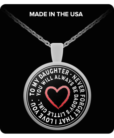 Daddy's Little Girl - Necklace  What Daughter Would Not LOVE This?   Surprise yours with this, it will melt her heart.  Make sure you share it on Facebook too.  Get yours now and surprise her.  She's worth it.