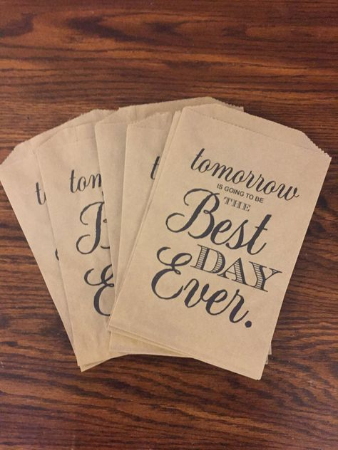 Tomorrow Is Going To Be The Best Day Ever Kraft Paper Bags | Etsy