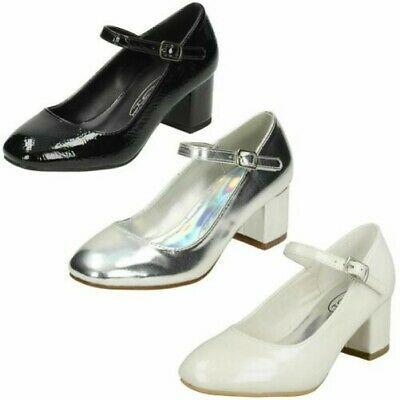 Ladies Spot On Blocked Heel Mary Jane Style /'Shoes/'