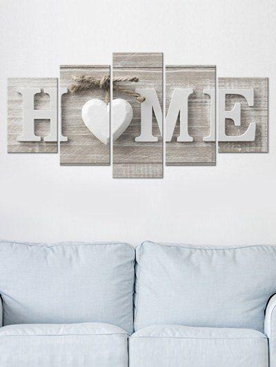 Home Wood Grain Print Unframed Canvas Paintings Sitting Room Decor Diy Canvas Wall Art