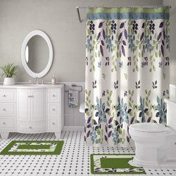 Candyce 18 Piece Shower Curtain Set With Images Shower Curtain