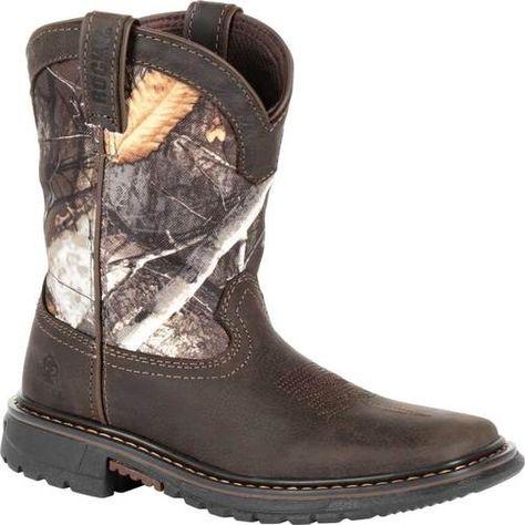 """Men/'s Rocky Ride 11/"""" Branson Roper Waterproof Western Work Boots 2733"""