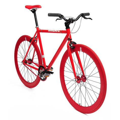 Fixed Gear Bicycle Red Create Bikes Grzzi Pinterest Bicycling