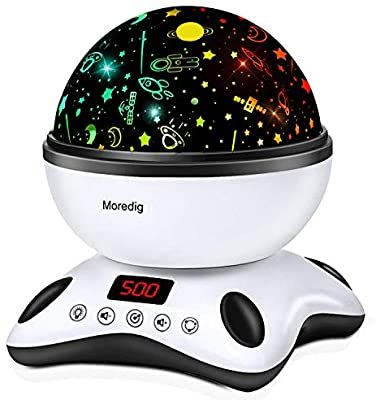 Amazon Com Moredig Night Light Projector Remote Control And Timer Design Projection Lamp Built In 12 In 2020 Night Light Projector Best Night Light Night Light Kids