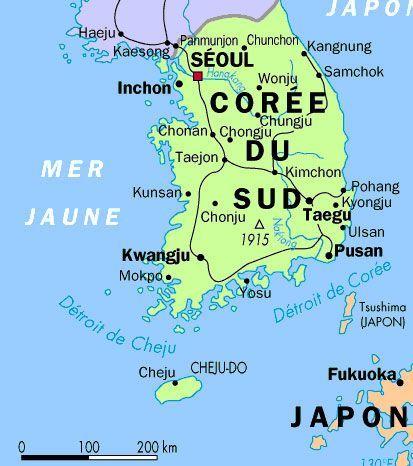 Petite Carte De La Coree Du Sud Pour Commencer Avec Images