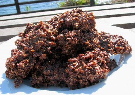 No Bake Chocolate Haystack Cookies - aw the childhood memories! Added some flaxseed for an extra boost of omega!
