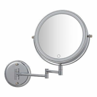 Better Homes Gardens Chandler Wall Mount 1x 10x Led Vanity Mirror Chrome Ebay In 2020 Led Vanity Better Homes Gardens Vanity Mirror