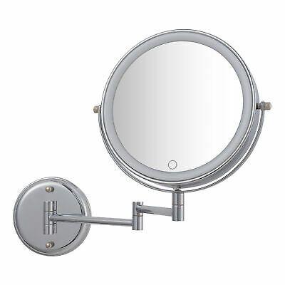 Better Homes Gardens Chandler Wall Mount 1x 10x Led Vanity Mirror Chrome Ebay In 2020 Led Vanity Better Homes Gardens Vanity Mirror