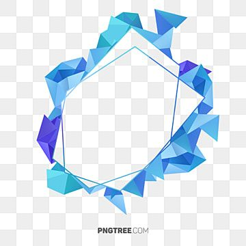 Blue Abstract Polygonal Frame Blue Geomentry Geometric Png Transparent Clipart Image And Psd File For Free Download Geometric Background Frame Template Frame Clipart