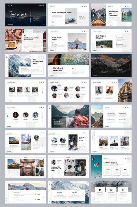 Company Business PowerPoint Template. 42 Unique Slides