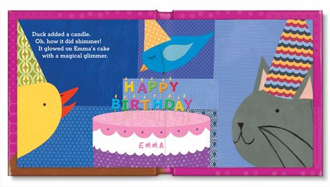 Spread from My Very Happy Birthday book.  Available for boys and girls.