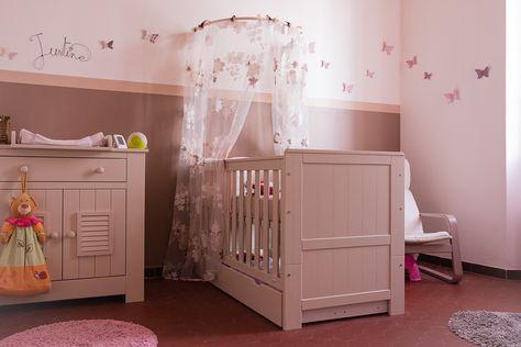décoration chambre bébé fille rose et taupe | Déco chambre ...