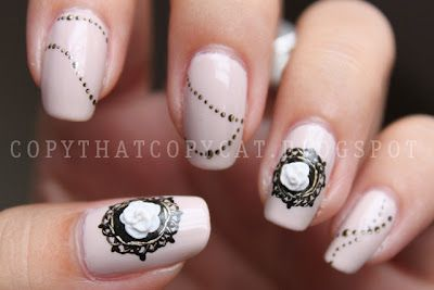 vintage style jewelry nails
