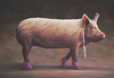 SurrealismPig Piglet's Beauty BondPigs First Pageant By Paul FlKJT1c3