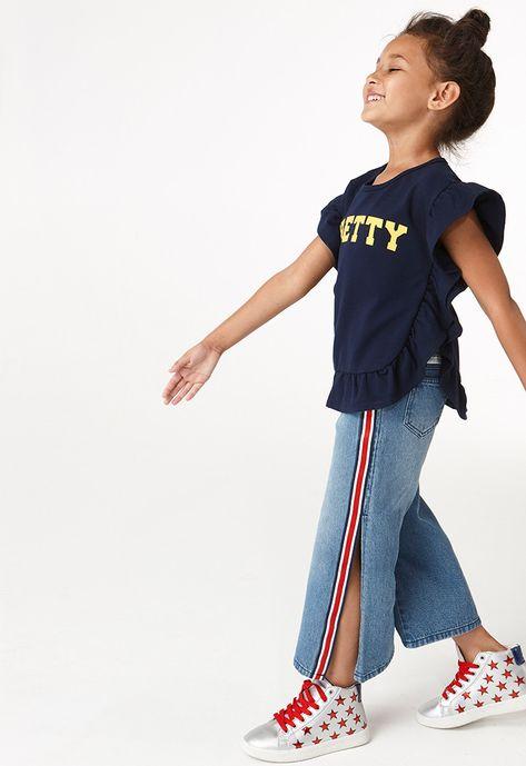 Side Slit Jeans - Kids