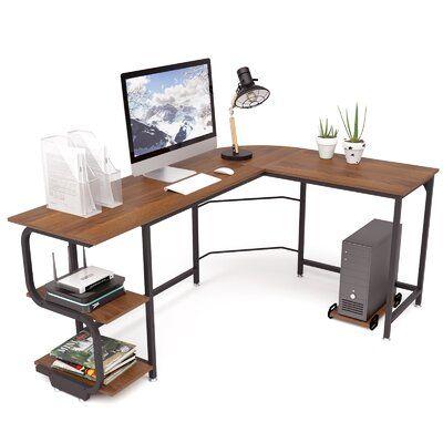 17 Stories Carnearney Reversible L Shaped Desk Wayfair In 2020 Corner Computer Desk L Shaped Desk Desk Shelves