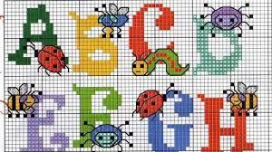 Resultado De Imagen Para Punto Cruz Letras Con Dibujos Cross Stitch Alphabet Cross Stitch Baby Cross Stitch Patterns
