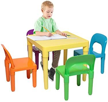 Kids Desk And Chair Set Children S Sturdy Table Student School Desks Pencil Case Bookstand In 2020 Kids Chairs Kids Table And Chairs Kids Room Furniture