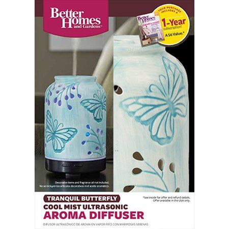 fa9b00c0772d2f90326411de55d79523 - Better Homes And Gardens Essential Oil Diffuser Tranquil Butterfly