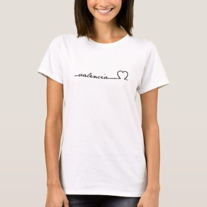I Love Heart Valencia T-Shirt
