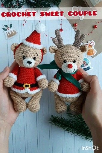Crochet pattern Santa the bear amigurumi | 512x341