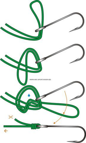 fishing line with fishing hook knot Survival Knots, Survival Tips, Survival Skills, Fishing Rigs, Carp Fishing, Fishing Line Knots, Knots Guide, Rope Knots, Fishing Techniques