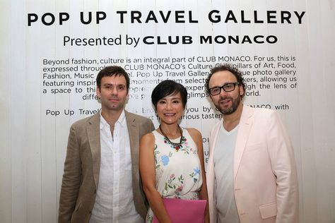 Well-traveled tastemakers fashion photographer Matthieu Belin, travel writer Piera Chen, film producer Emmanuel Benbihy