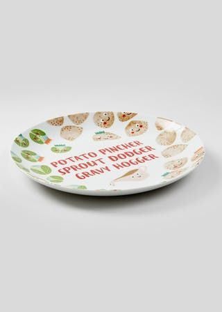 Reindeer Shaped Melamine Plate 30cm X 24cm Brown Christmas Dinner Plates Plates Christmas Plates