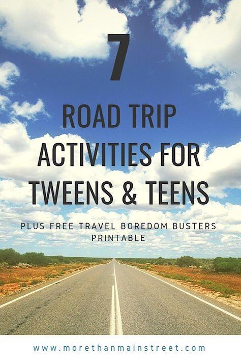 Road trip activities for tweens and teens!