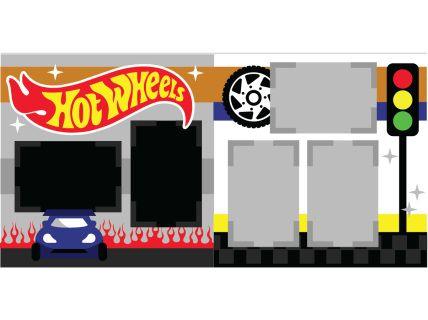 Hot Wheels Scrapbook Page Kit
