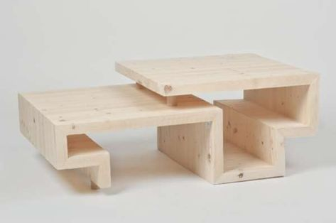 Delightful Meandering Timber Tables | Timber Furniture, Storage And Geometric Furniture Design Ideas