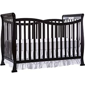 Dream On Me Violet 7 In 1 Convertible Life Style Crib Black In 2020 Dream On Me Cribs Crib Bedding